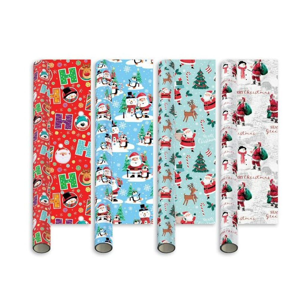 Giftmaker 5m Santa & Friends Christmas Gift Wrap (Choice of 4)