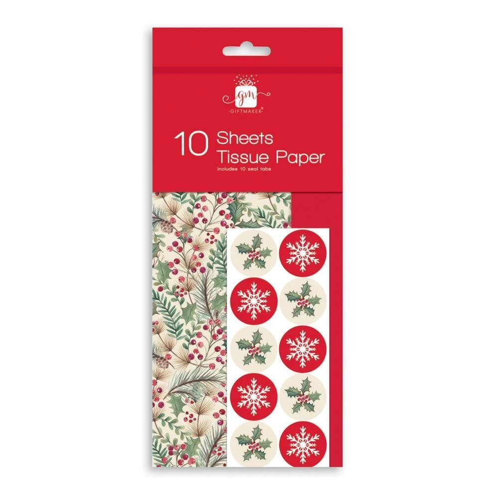 Giftmaker Festive Foliage & Red Tissue Paper