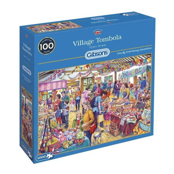 cb5896b165c7 Gibson Games 1000 Piece Village Tombola Jigsaw Puzzle - Puzzles ...