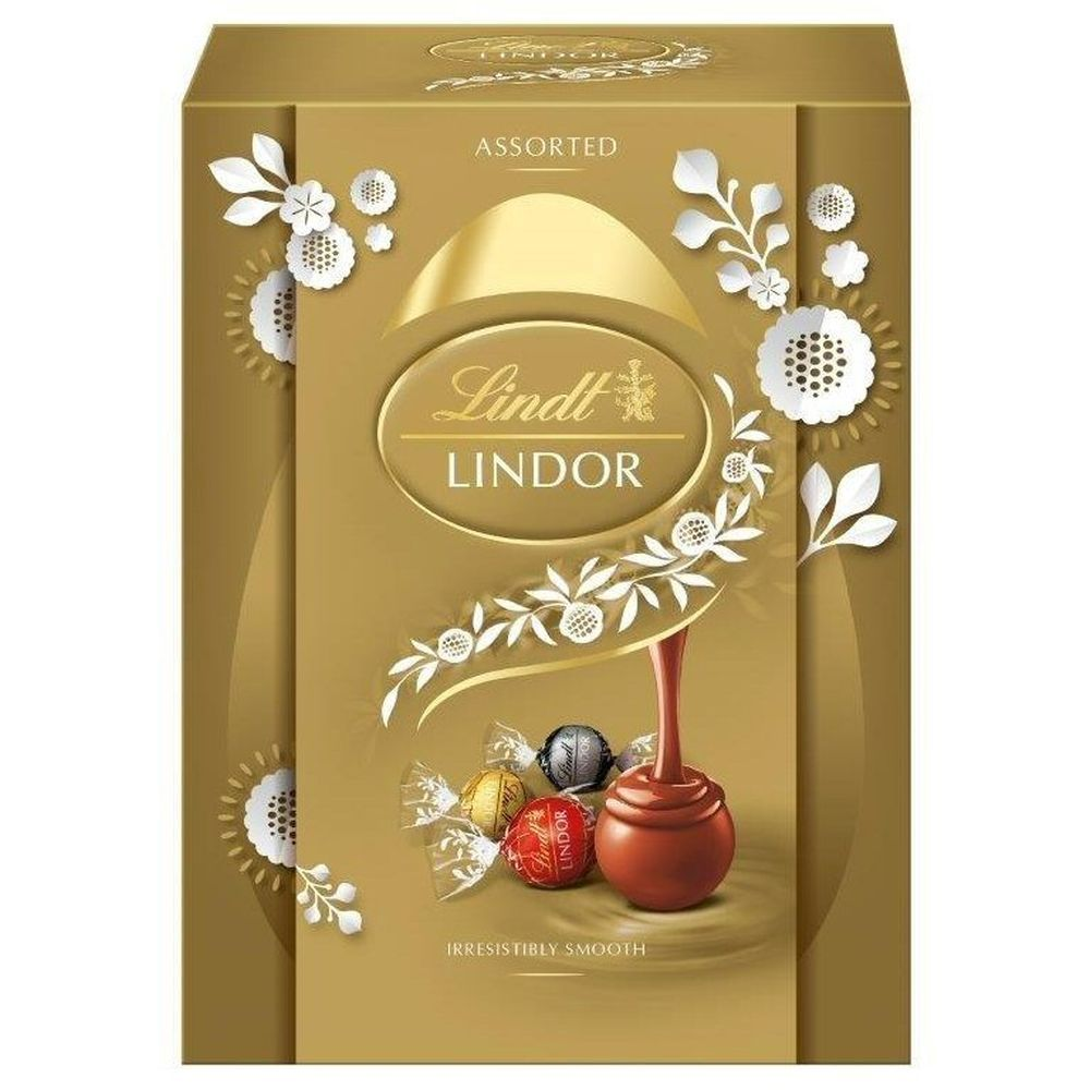 Lindt Lindor Milk Chocolate Egg with Assorted Truffles 133g
