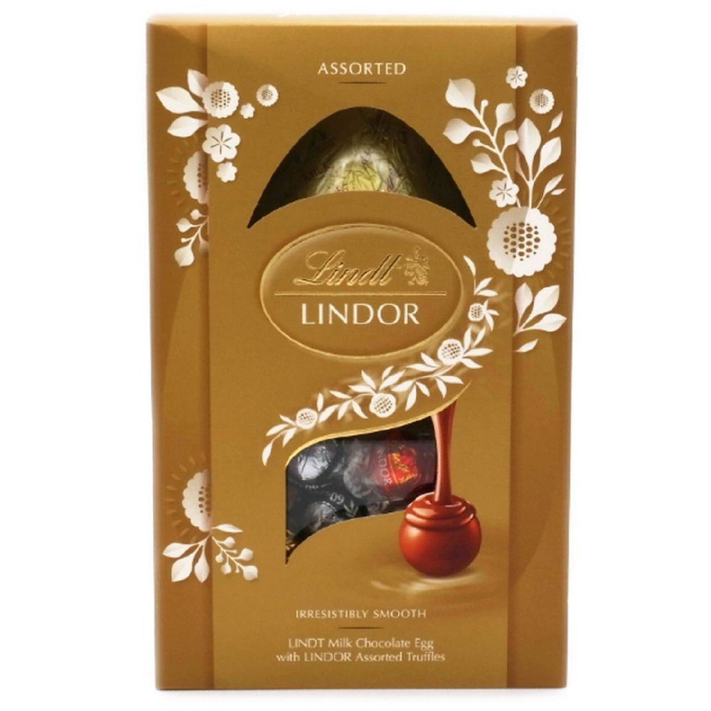 Lindt Lindor Milk Chocolate Egg With Assorted Truffles 260g