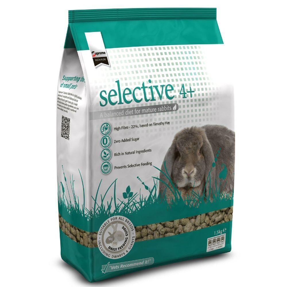 Supreme Petfoods 1.5kg Science Selective Rabbit Food Mature 4+ Years