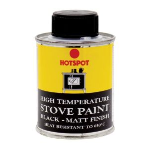 Decco 100ml Hotspot Stove Paint Tin Black - 836429