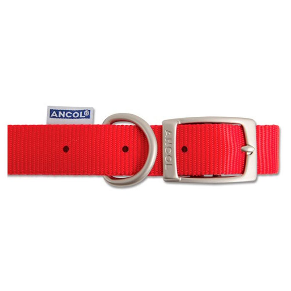 Ancol Heritage 40cm Red Nylon Dog Collar - 310220