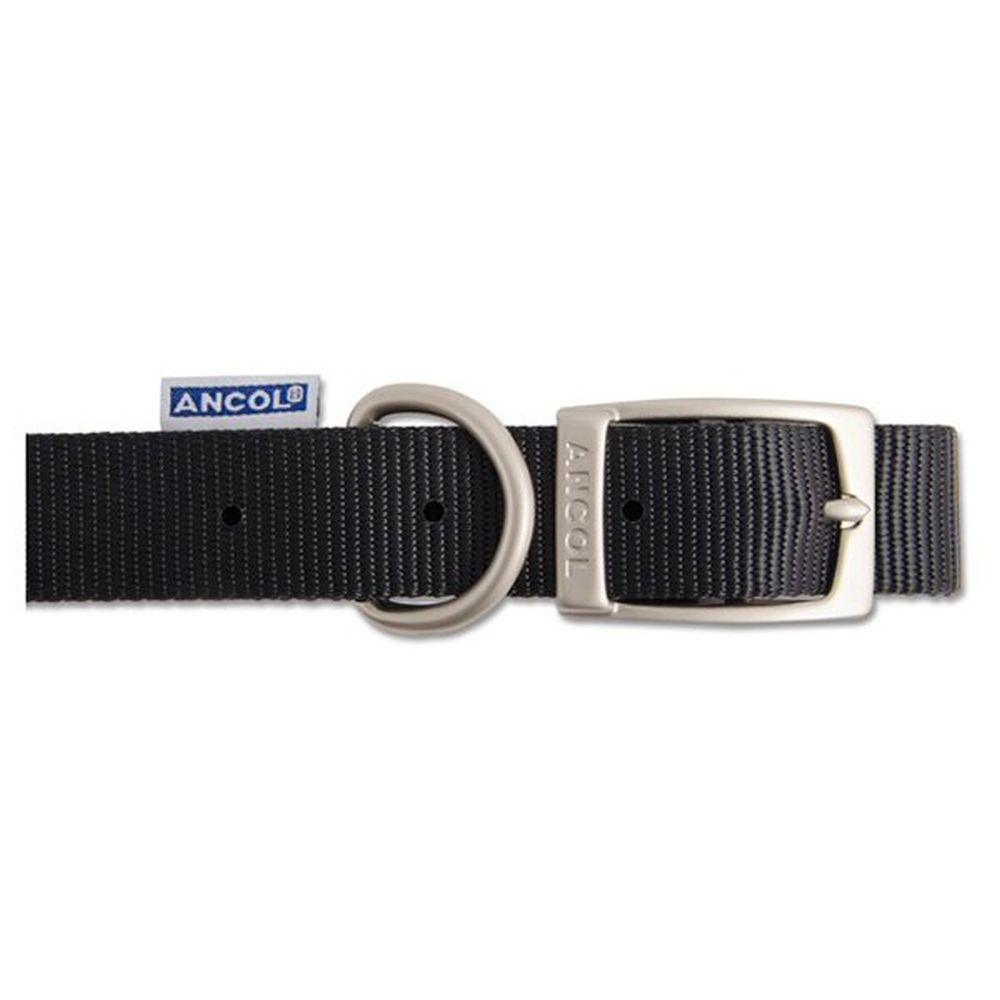 Ancol Heritage 50cm Black Nylon Dog Collar - 310410