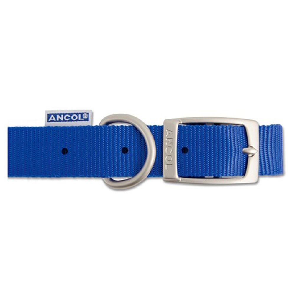 Ancol Heritage 50cm Blue Nylon Dog Collar - 310440