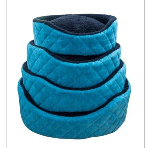 Ancol 50cm Teal Oval Quilted Dog Bed - 550112
