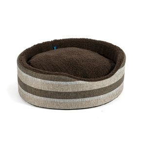 Ancol Small 50cm Tawny Striped Oval Bed