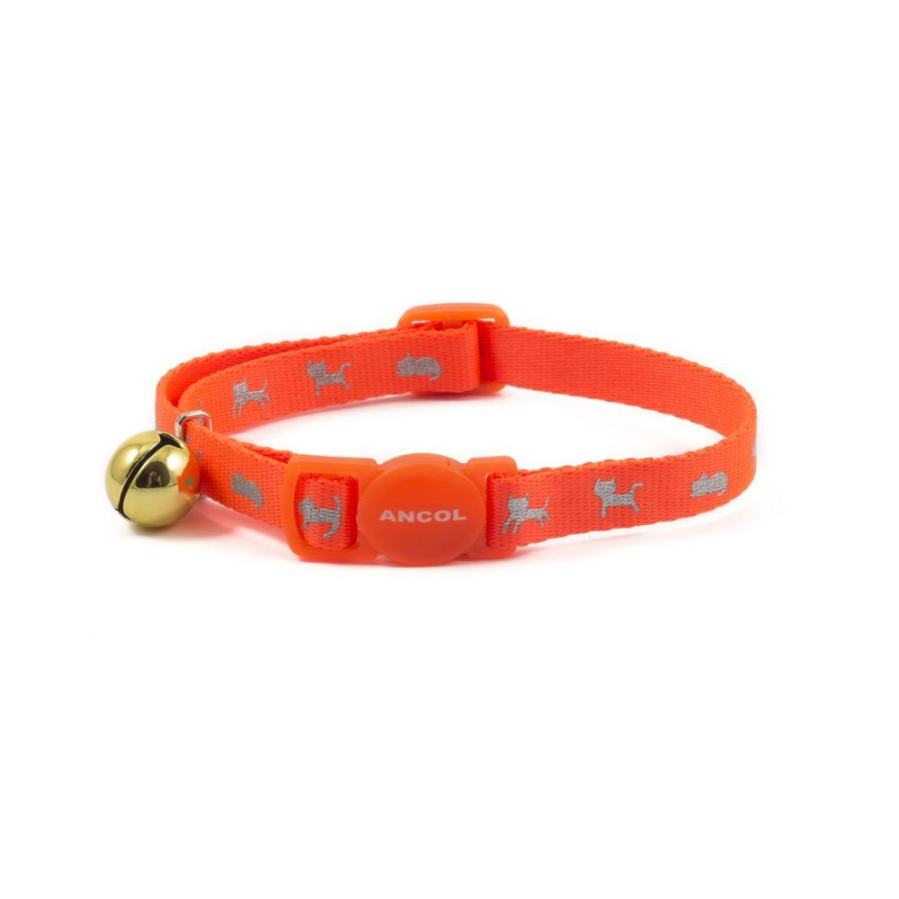 Ancol Orange Hi-Vis Cat Collar
