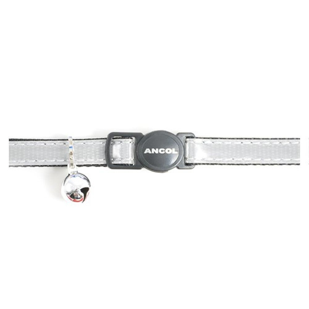 Ancol Silver Gloss Reflective Cat Collar - 670890
