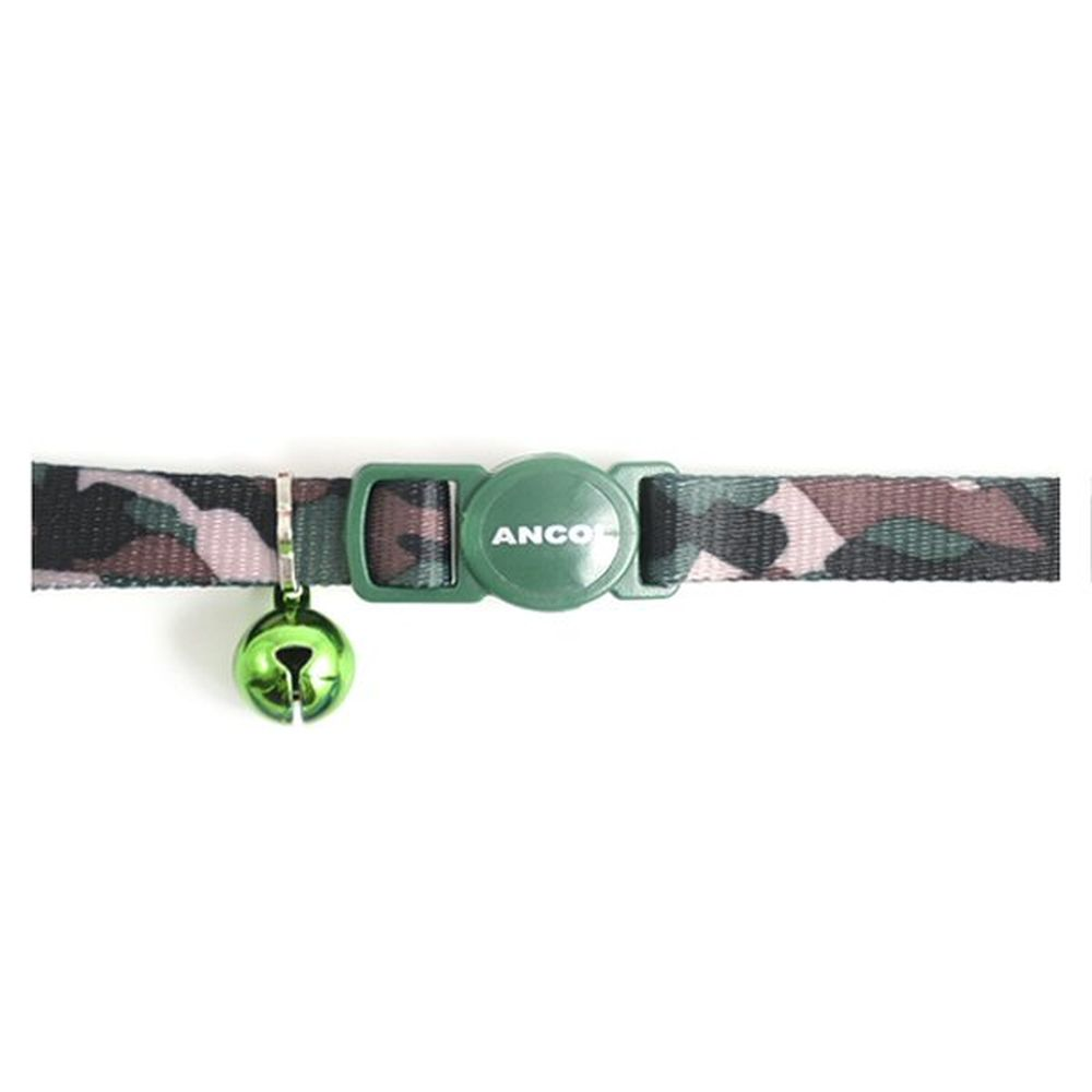 Ancol Green Camouflage Cat Collar - 671230