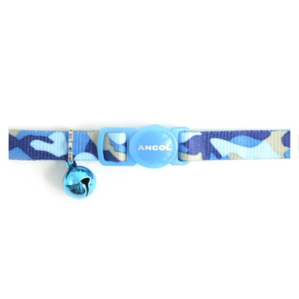 Ancol Blue Camouflage Cat Collar - 671240
