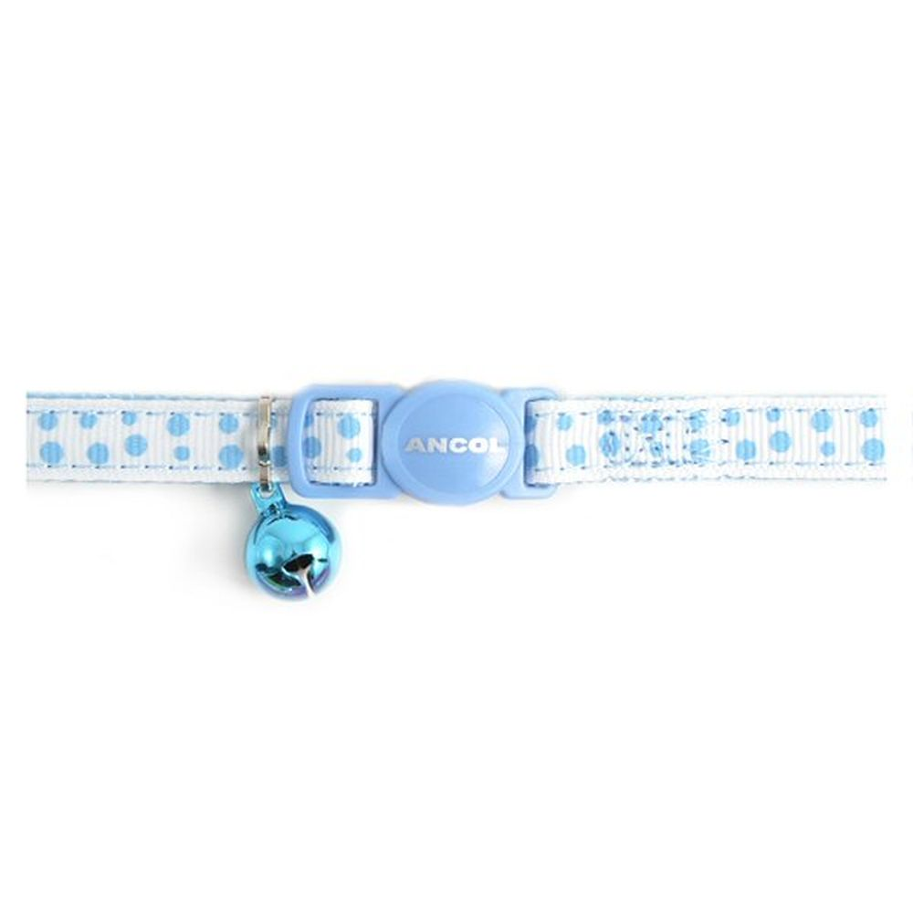 Ancol Blue Dotty Safety Buckly Cat Collar - 672240