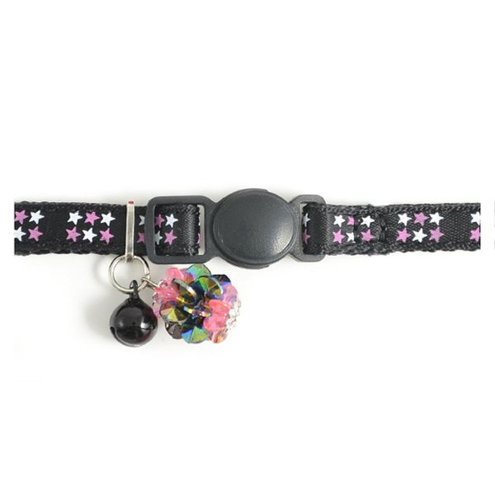 Ancol Black Stars Safety Buckle Kitten Collar - 673110