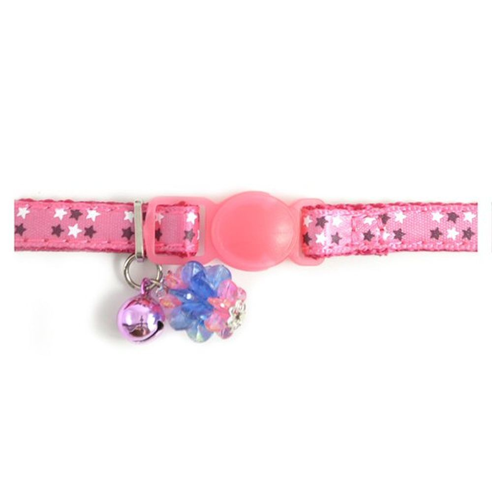 Ancol Pink Stars Safety Buckle Kitten Collar - 673150