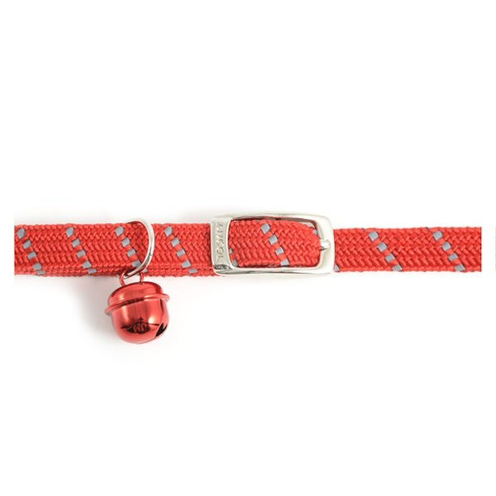 Ancol Red Reflective All Elastic Softweave Cat Collar - 673320