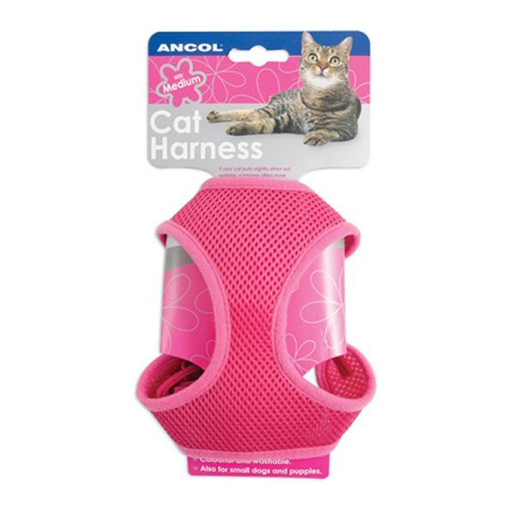 Ancol Pink Medium Soft Cat Harness