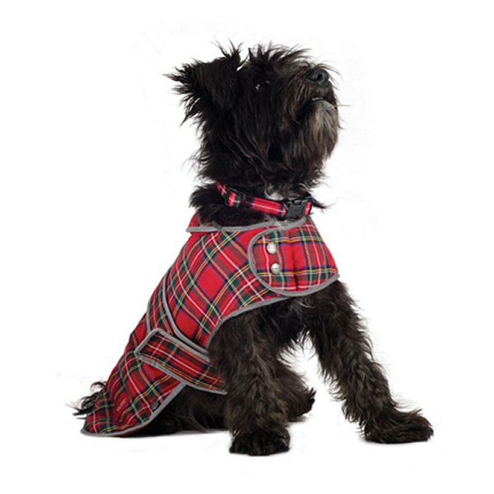Ancol Muddy Paws Small Highland Red Tartan Dog Coat - 980201
