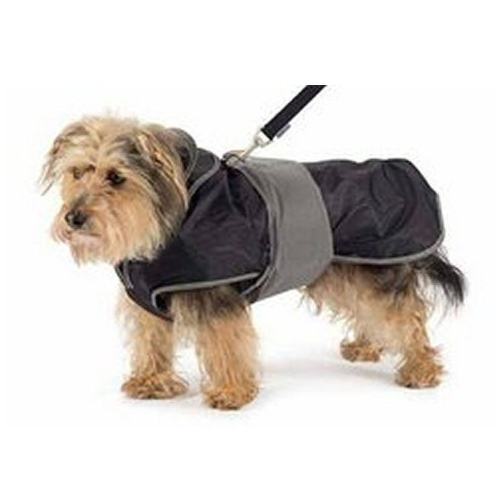 Ancol Medium Black 2 in 1 Harness & Dog Coat