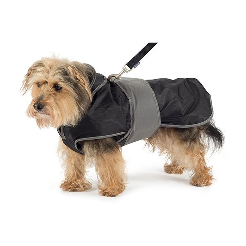 Ancol Large Black 2-in-1 Harness Dog Coat - 980370