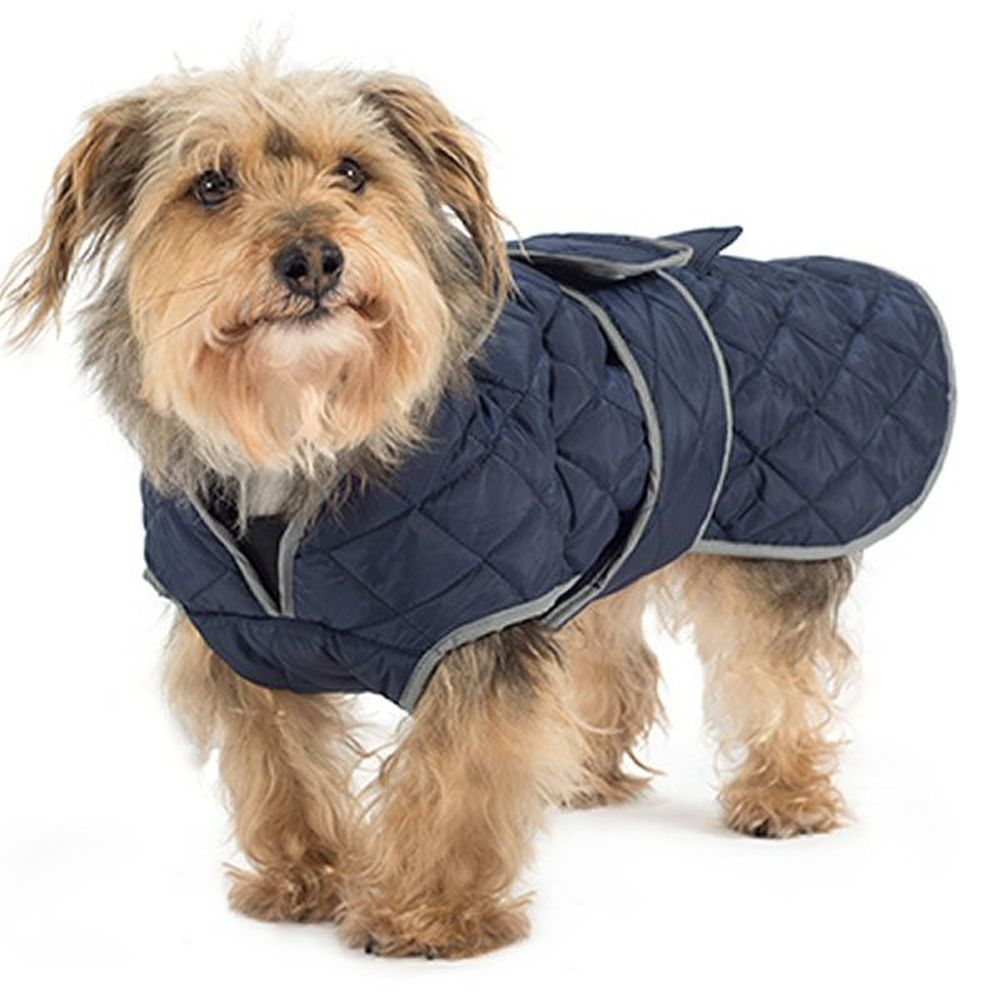 Ancol Small Navy Blue Quilted Dog Coat - 980373