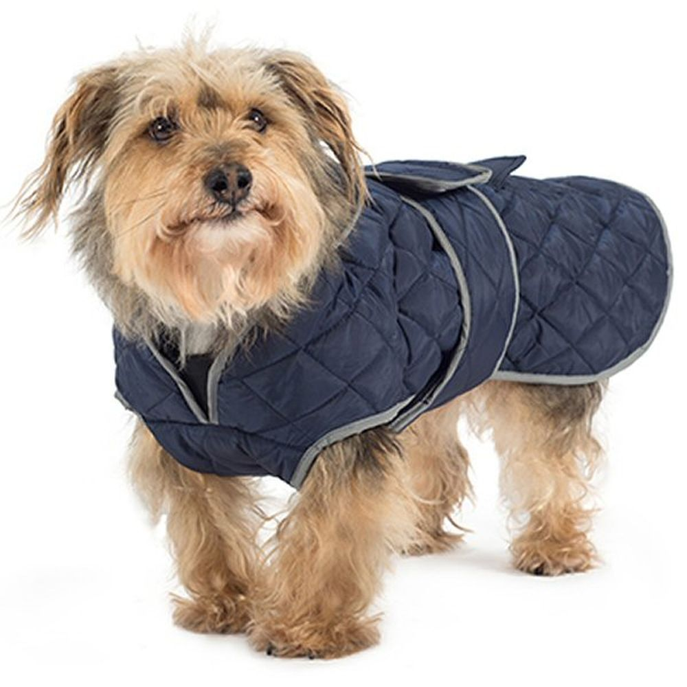 Ancol Medium Navy Blue Quilted Dog Coat