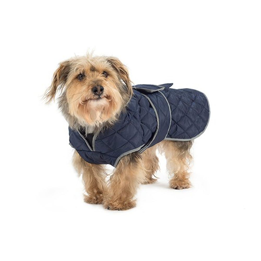 Ancol Extra Large Navy Quilted Dog Coat - 980376