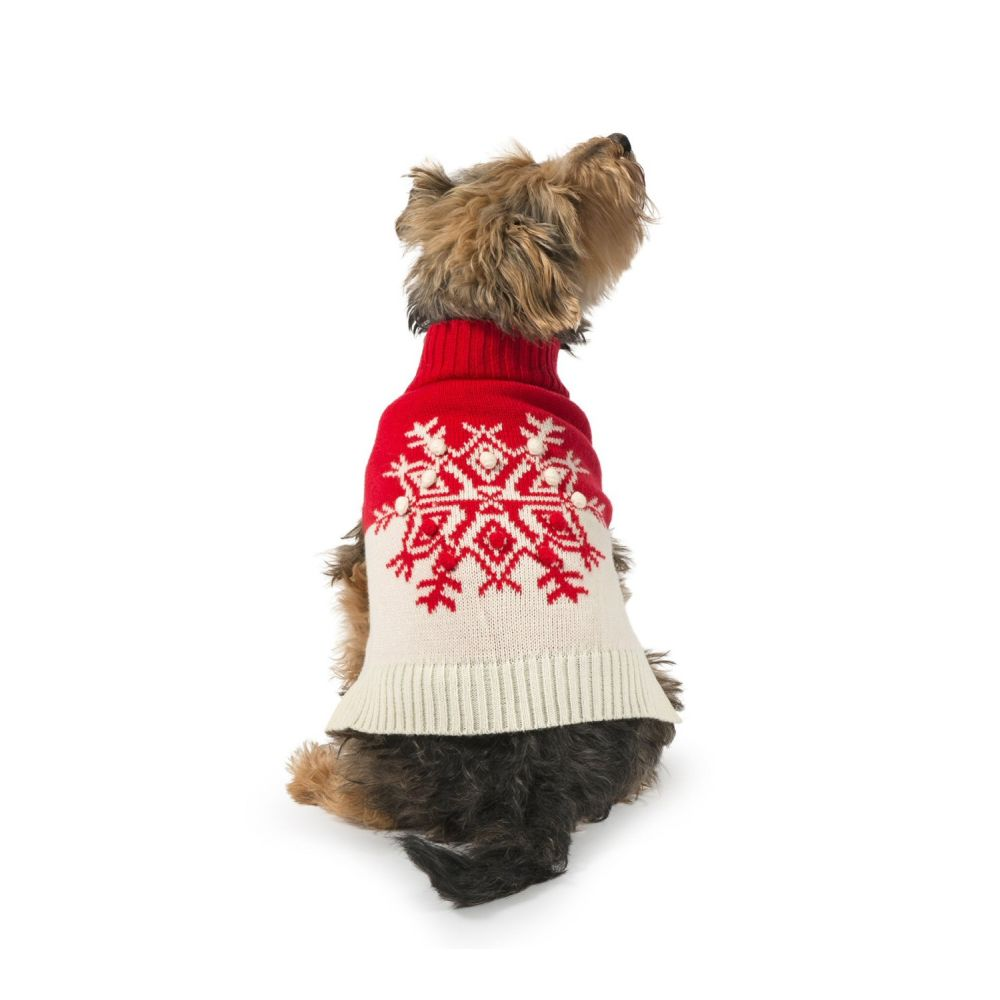 Ancol XXSmall Red Snowflake Dog Jumper