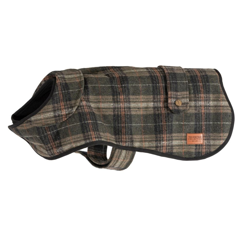 Ancol 50cm Large Green Heritage Check Coat