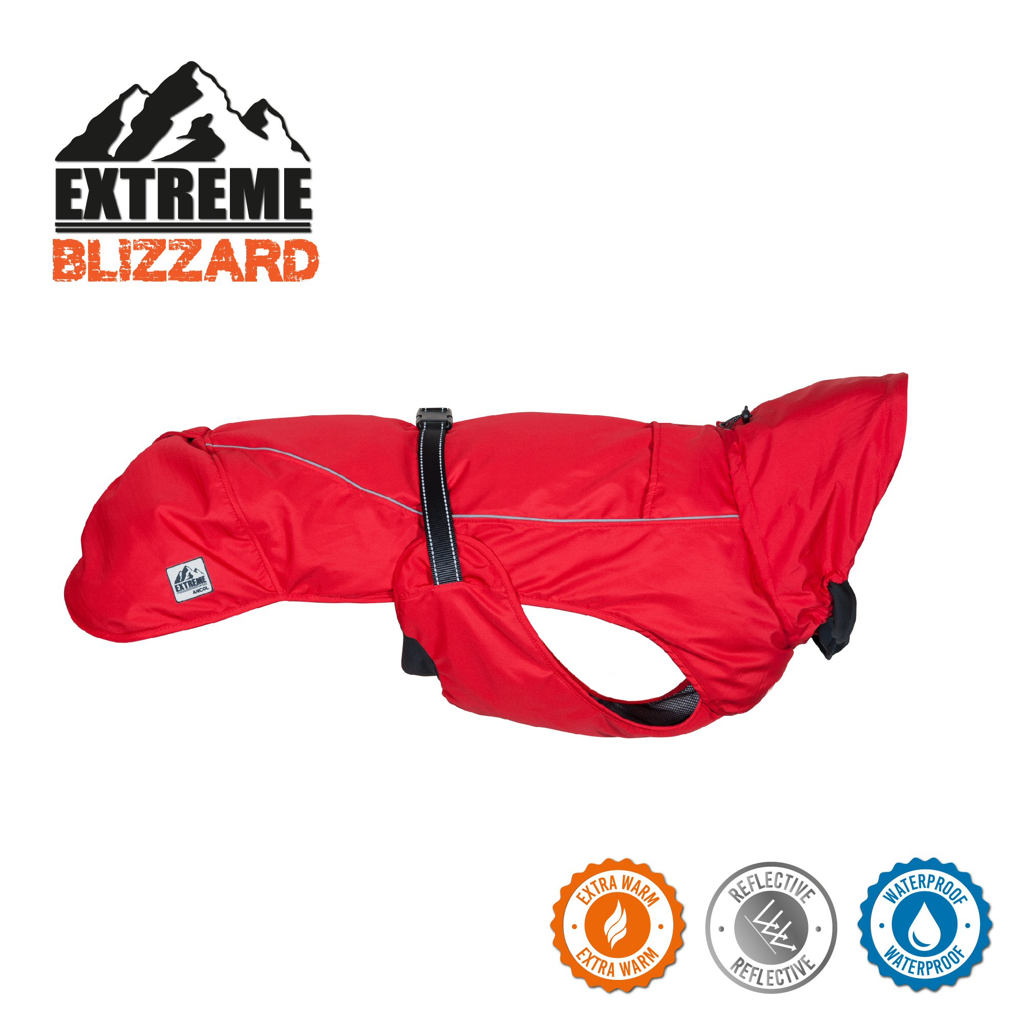 Ancol Extreme Blizzard Red Medium Dog Coat