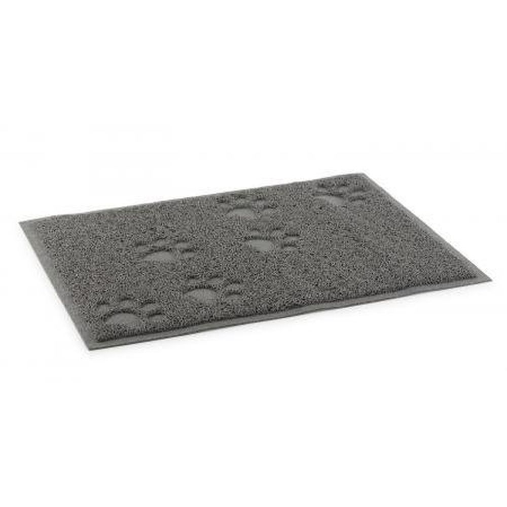 Ancol Dog Feeding Mat With Paw Grey