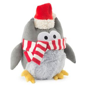Ancol Plush Cosy Owl Christmas Toy with Squeaker