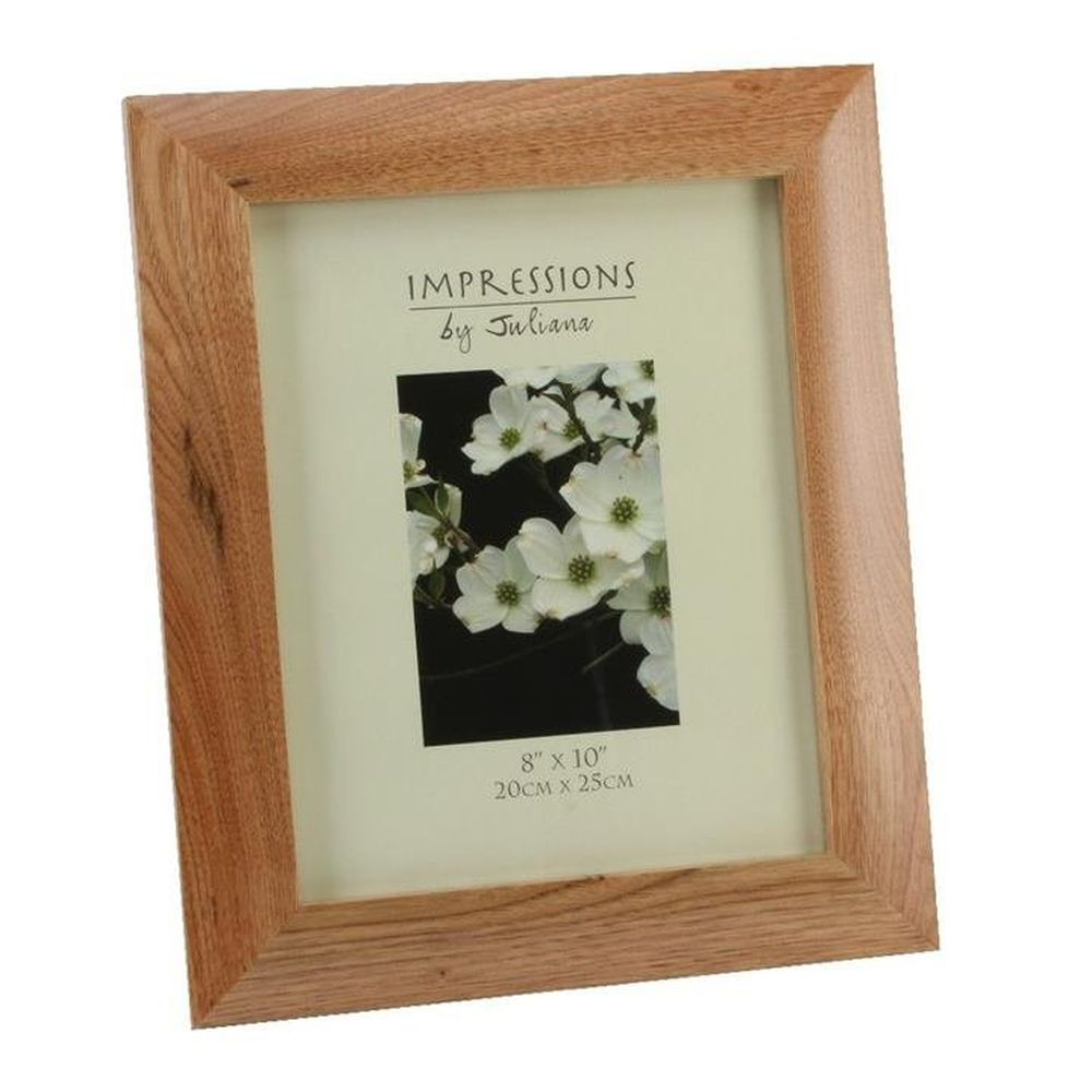 "Impressions 8"" x 10"" Oak Effect Photo Frame"