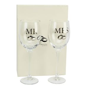 Amore Mr And Mrs Wedding Wine Set