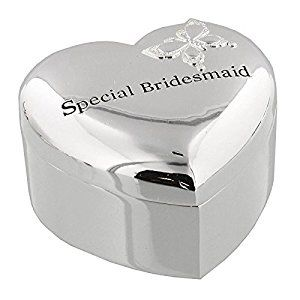 Amore Silver Plated Trinket Box Special Bridesmaid