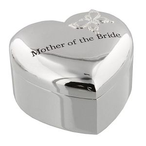 Amore Silver Plated Trinket Box Mother Of The Bride
