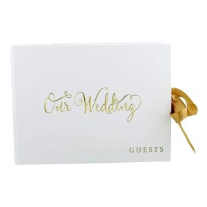 Always And Forever Gold Foil Guest Book