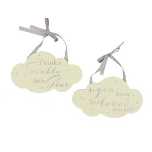 Bambino Twinkle Twinkle Plaque Set Of 2