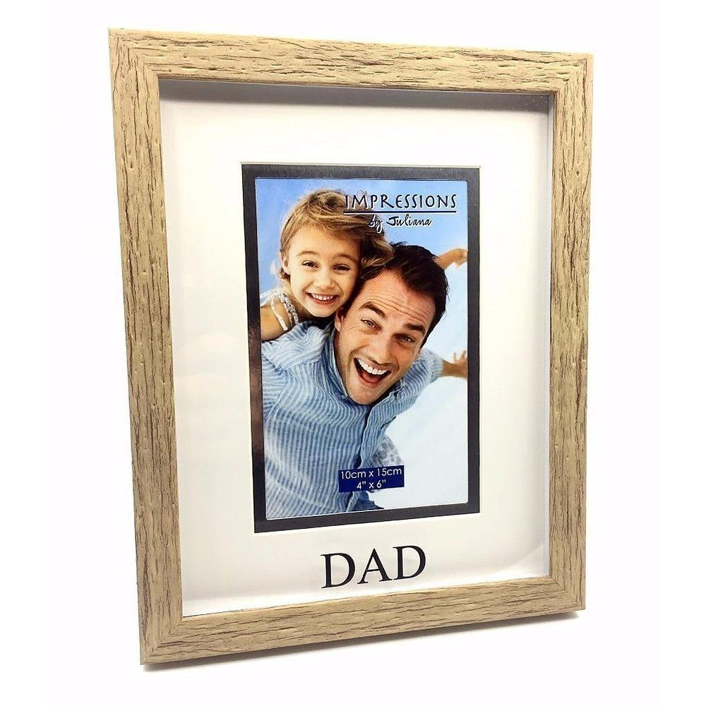 "Celebrations 4"" x 6"" Wooden Effect Dad Photo Frame"