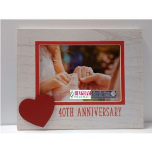 Wooden Frame 40th Anniversary