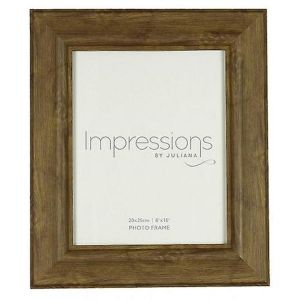 Juliana Impressions 8 x 10 Brown Wooden Effect Photo Frame