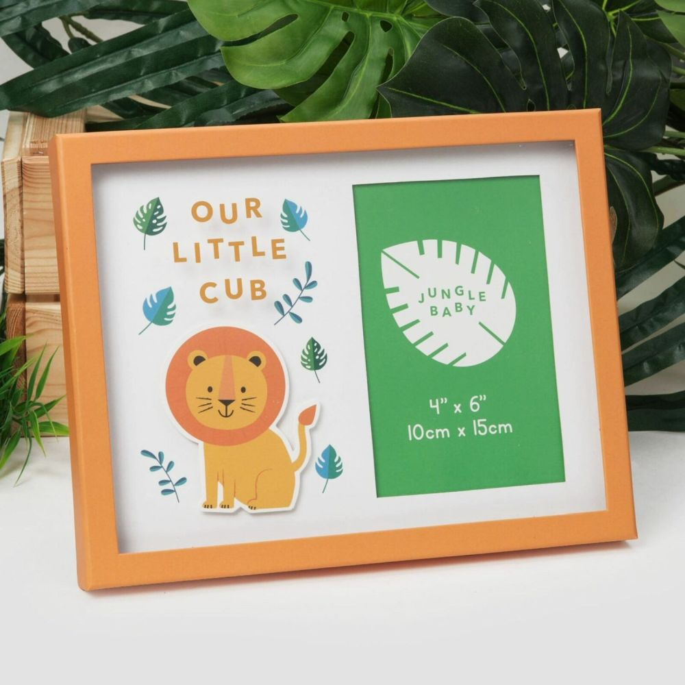 "Celebrations 4"" x 6"" Jungle Baby Our Little Cub Photo Frame"