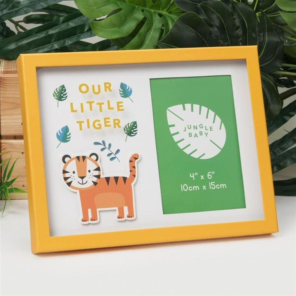 "Celebrations 4"" x 6"" Jungle Baby Our Little Tiger Photo Frame"