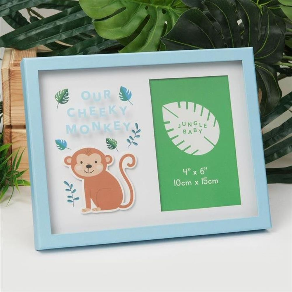 "Celebrations 4"" x 6"" Jungle Baby Our Cheeky Monkey Photo Frame"