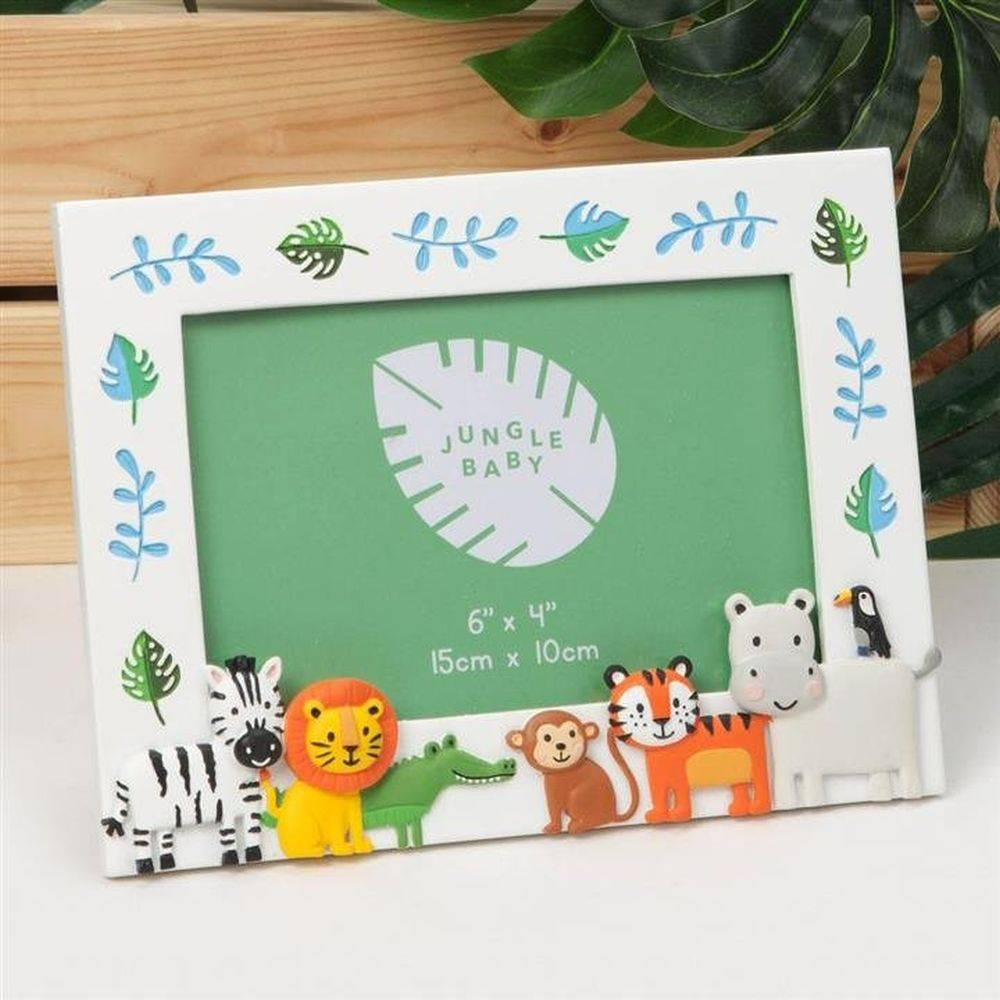 "Celebrations 6"" x 4"" Jungle Baby Characters Relief Photo Frame"