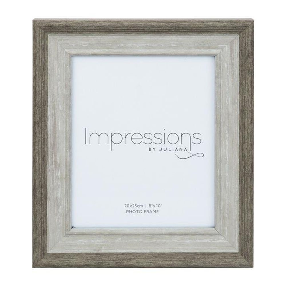 "Impressions 8"" x 10"" Grey Wash Wood Effect Photo Frame"