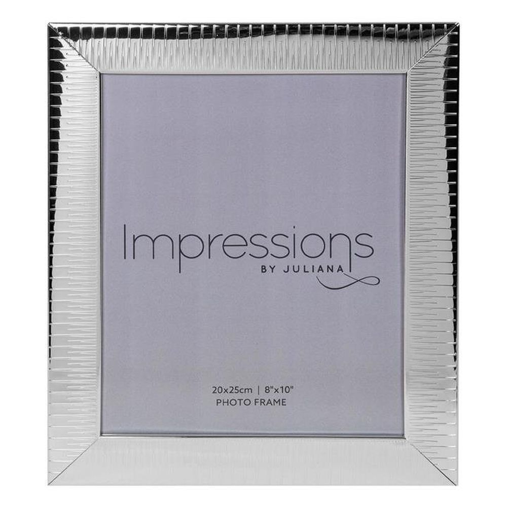 "Impressions 8"" x 10"" Ridged Silver-Plated Photo Frame"