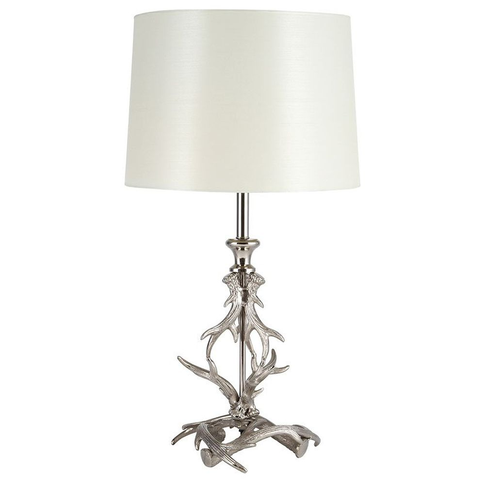 Pacific 47cm Nickel Antler Table Lamp Base & Shade