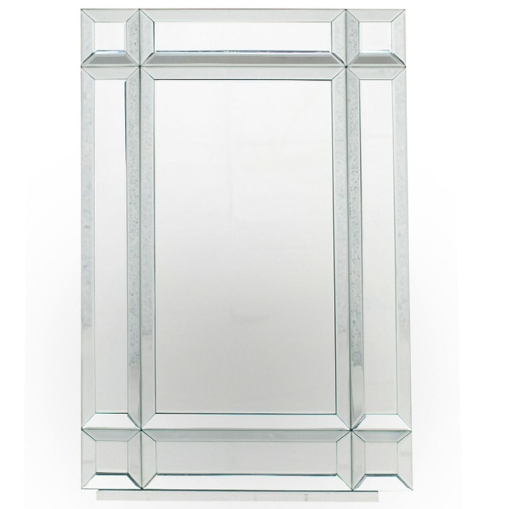Pacific Lifestyle Mirrored Glass Oblong Wall Mirror