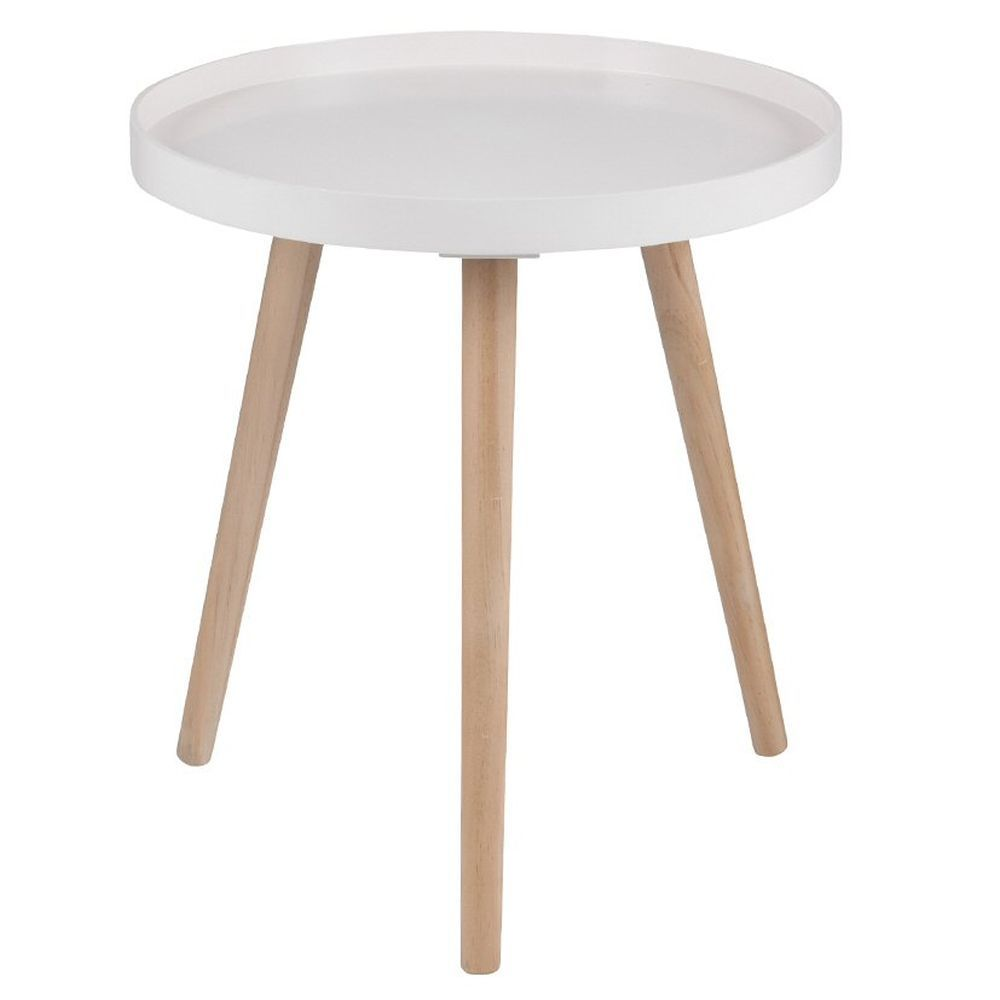 Pacific 44cm Blush Pine Wood & MDF Round Table